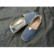 Toms University blue White - size W8  Eur 38.5 (25 cm)
